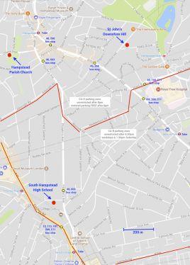 Hampstead Arts Festival map of venues